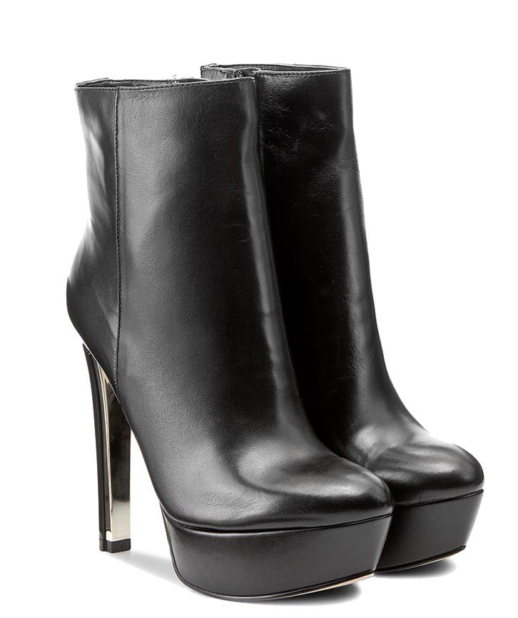 70ad434745 Guess Boots Ecker, In Leather Black - Shop Online At Best Prices!