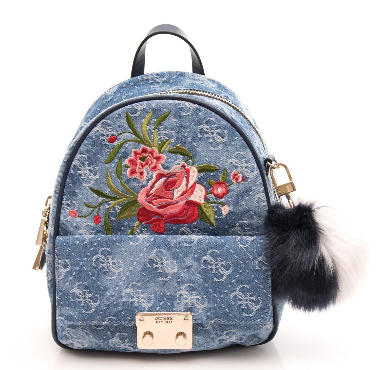 4a4113163c Guess Varsity Pop Shoulder Backpack Bluedenim - Shop Online At Best ...