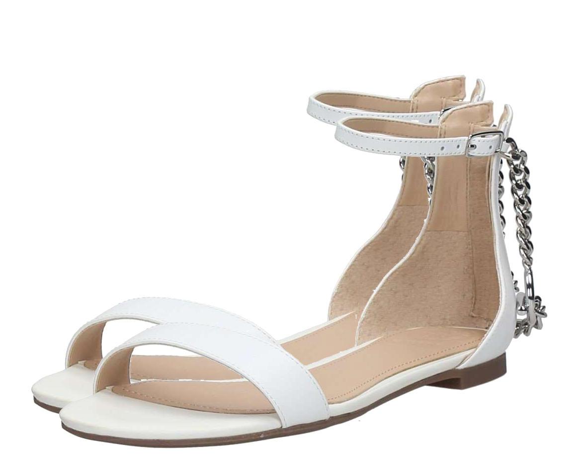 Online Shop Ixztkopu Best Low Ronaldain Guess At Sandals Leather White OXuikZP