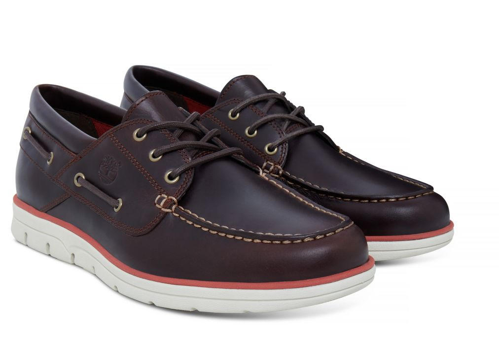 2e4cb0e6594cf3 Timberland Boat Shoes Brad Street, In Leather Brown - Shop Online At ...