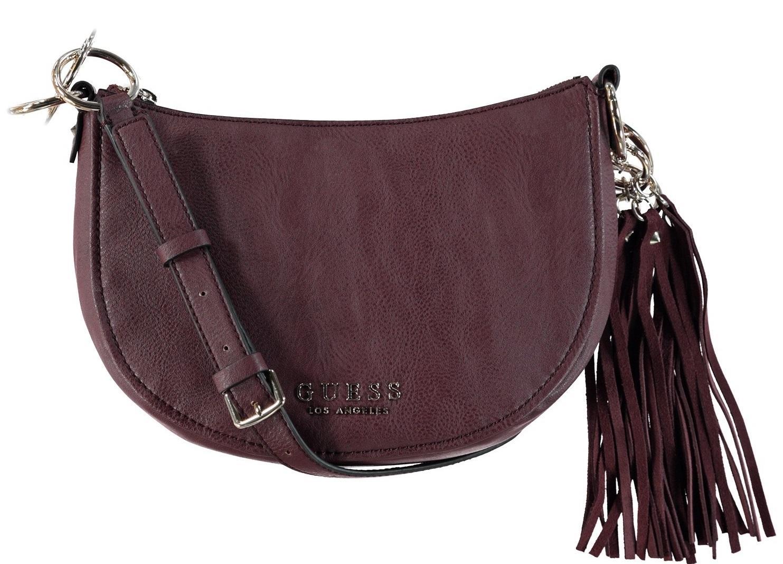 c631205289 Guess Alana Shoulder Bag Bordeaux - Shop Online At Best Prices!