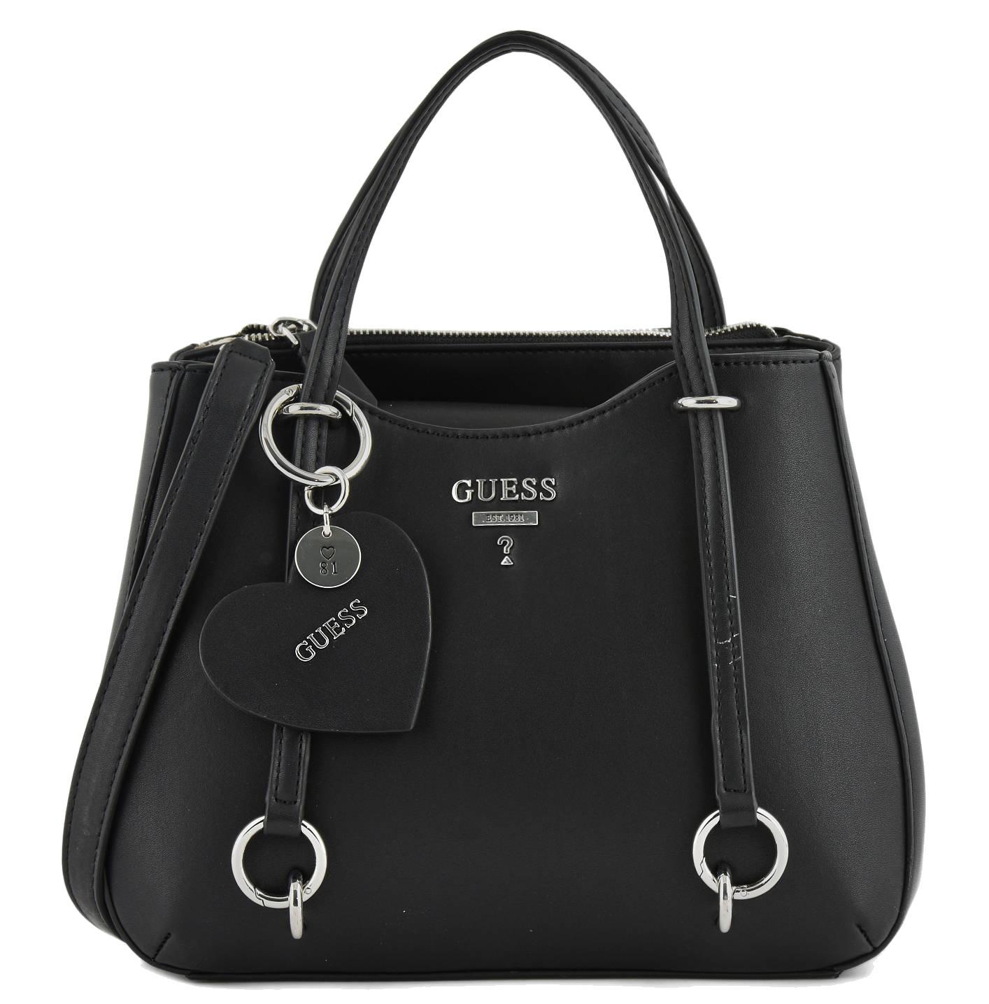 5582b580dd Guess leanne small handbag shoulder bag with shoulder strap black jpg  1414x1436 Small guess handbags