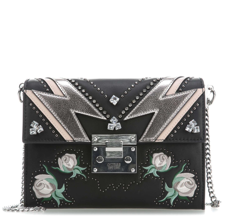 b64a157895d Guess Alba Shoulder Bag / Shoulder Bag Blackmulti - Shop Online At ...