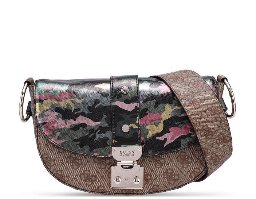 f8f1ee44531f Guess Florence Shoulder Bag Camouflage - Shop Online At Best Prices!