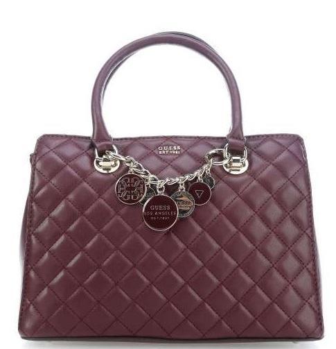 594c47b0f4 Guess Victoria Luxury Handbag, With Shoulder Strap Bordeaux - Shop ...