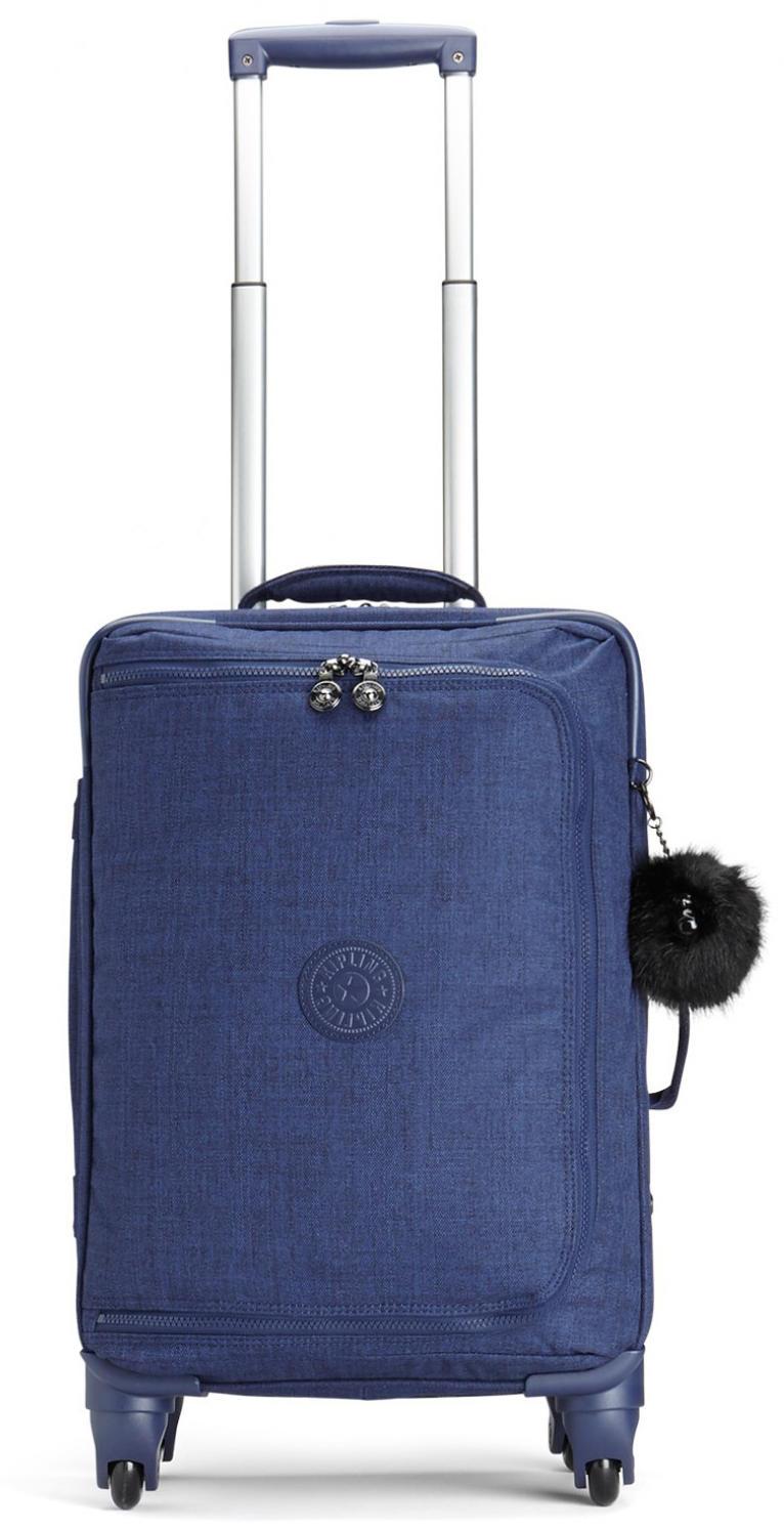 51ee4c528d Kipling Trolley Cyrah S Line, Hand Baggage Cotton Indigo - Shop ...