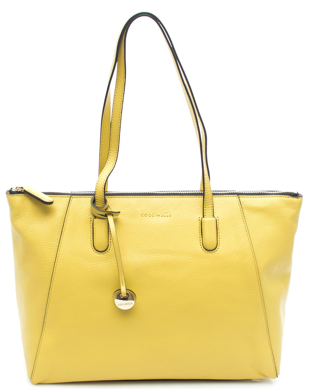 aaa1de781f Coccinelle Clementine Shoulder Shopper Bananas - Shop Online At Best ...