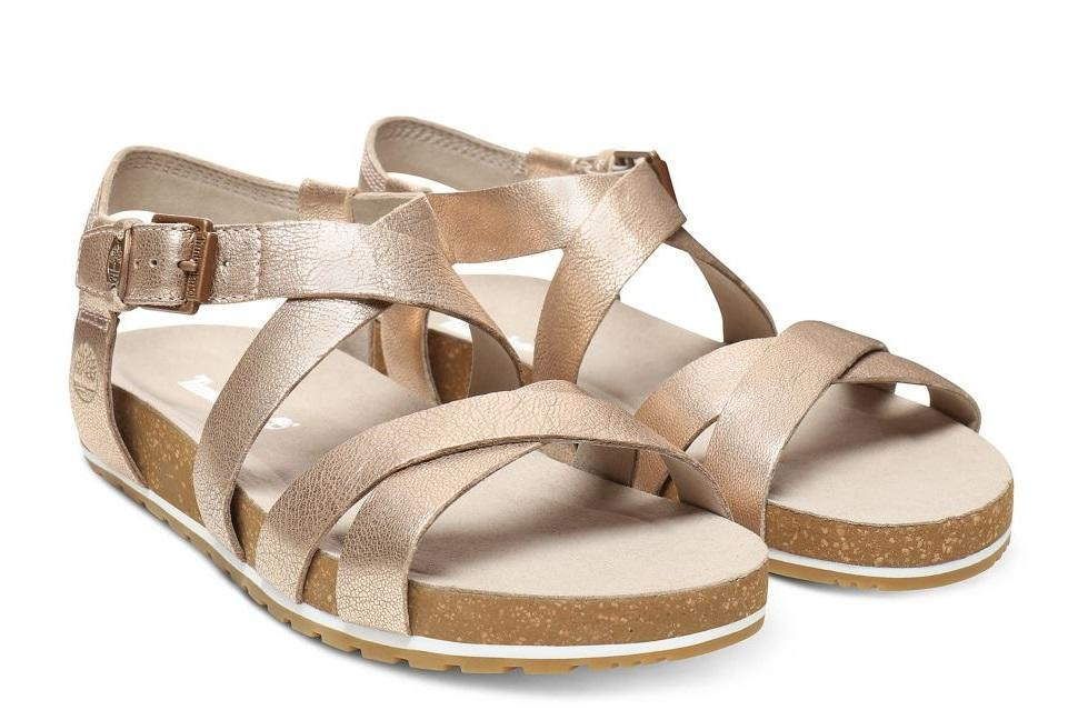 ea06f2e63 Timberland Sandals Malibu Waves, In Leather Rose / Gold - Shop ...