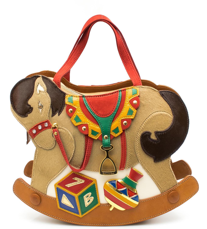 Borsa Cavallo A Dondolo.Braccialini Temi Cavallo A Dondolo