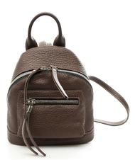 - NICOLI Madras Mini Made in Italy leather backpack