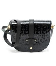 Women's Bags - POLLINI Heritage Patent Leather Embossed Over the shoulder bag