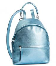- COCCINELLE LEONIE METALLIC Leather backpack