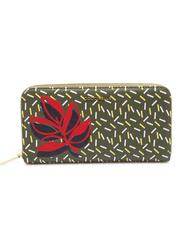- COCCINELLE METALLIC GRAPHIC LEAVES Leather wallet
