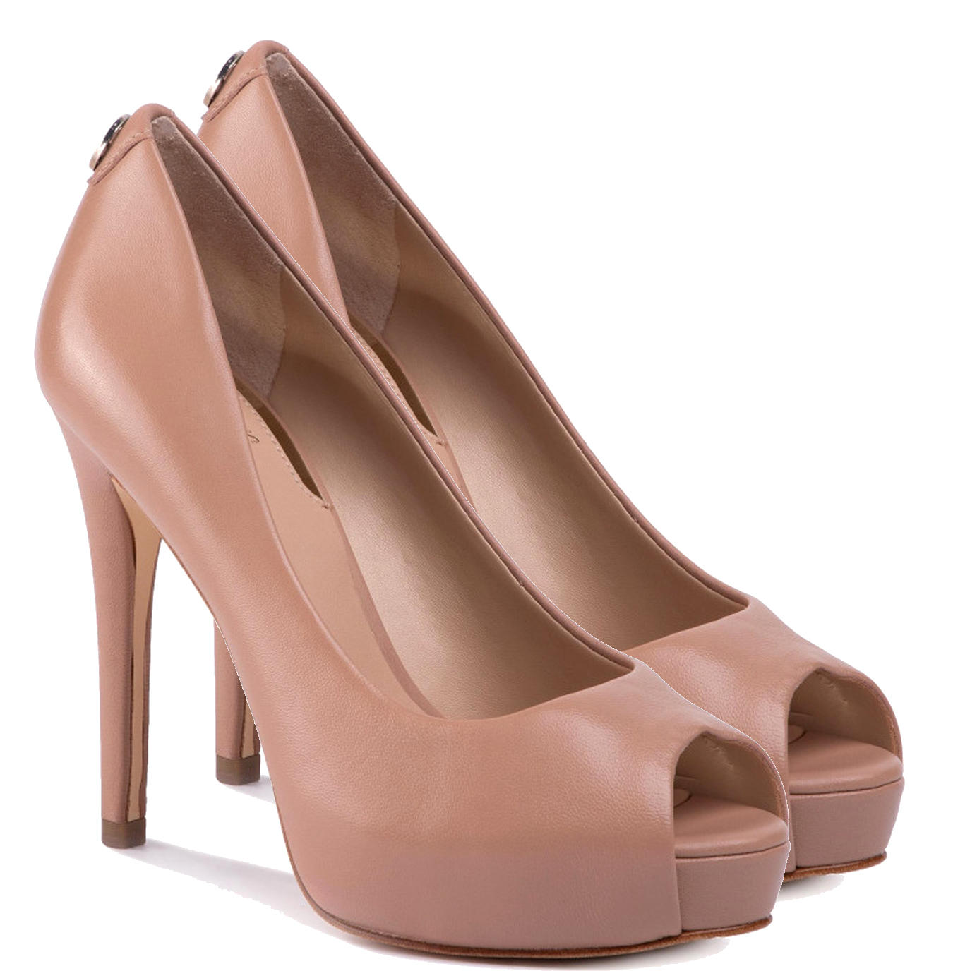 Guess Hadie Open Toe Pumps, In Leather