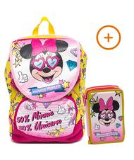 - MINNIE MOUSE Pink Vibes backpack + Case with school kit