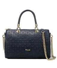- POLLINI Embossed Heritage Bowler handbag, with shoulder strap