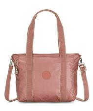 - KIPLING ASSENI S METALLIC Shopping bag with shoulder strap