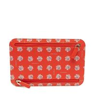 - COCCINELLE Calfskin clutch bag with patterned print