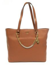 - POLLINI Shoulder shopping bag in tumbled leather