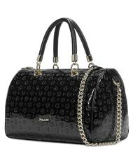 - Patent leather POLLINI Heritage Bowler handbag, with shoulder strap