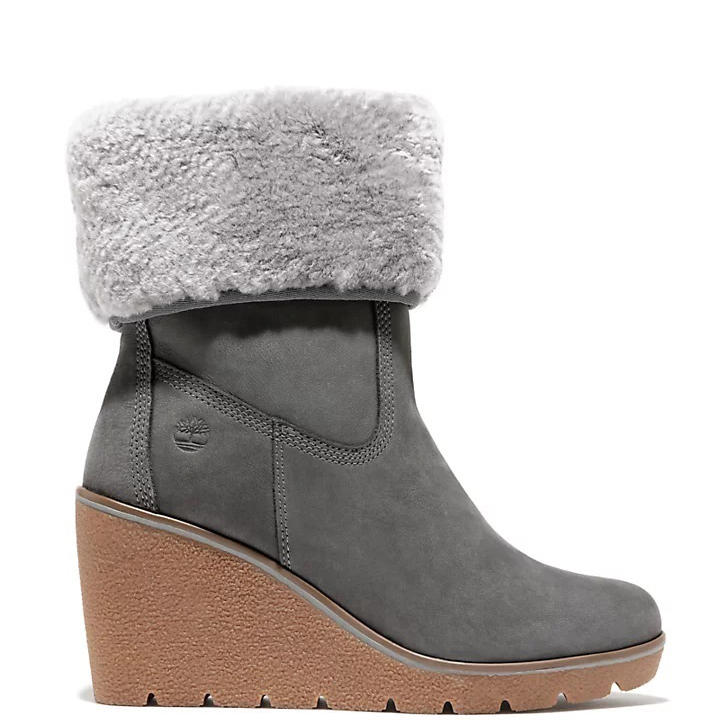 Women's shoes -  PARIS SHEARLING Wedge ankle boots