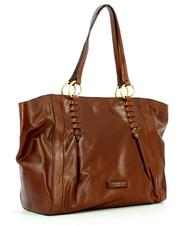 - THE BRIDGE VALLOMBROSA Shopping Bag in leather