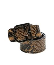 Belts - FURLA  SCUDO Reversible leather belt