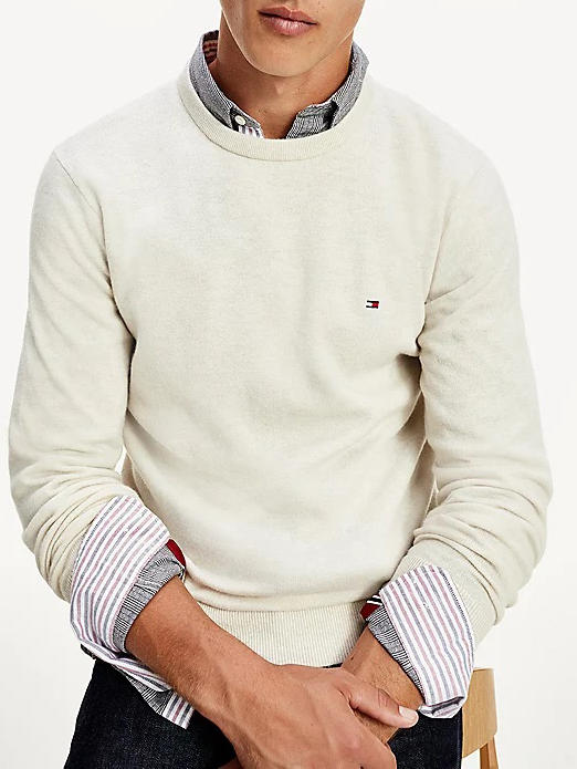 Men's Sweaters -  Crewneck pullover in wool