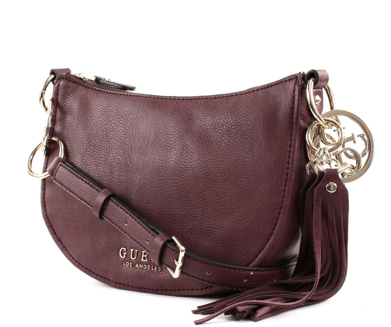 cc17178b20c1 Guess Alana Shoulder Bag Bordeaux - Shop Online At Best Prices!